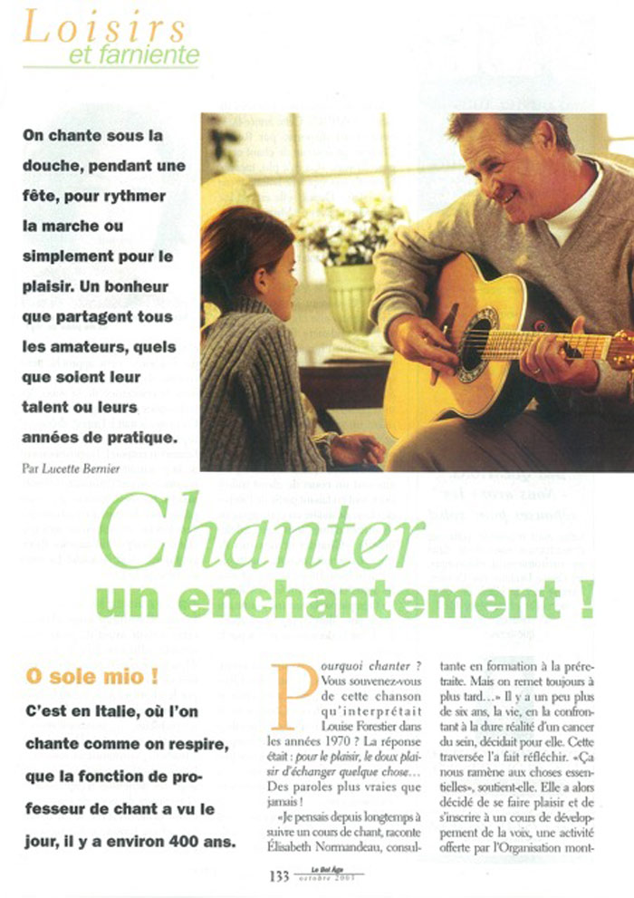Chanter un enchantement